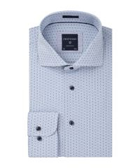 White blue slim fit shirt