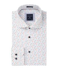 White printed slim fit shirt
