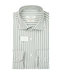 Striped soft constructed shirt