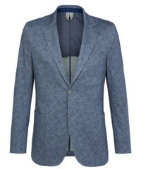 Blue knitted jacket