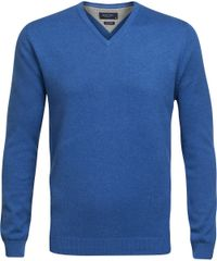 Royal blue v-neck pullover