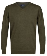 Army merino v-neck