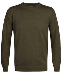 Army merino crew-neck