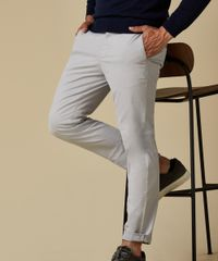 Grijze garment dyed chino