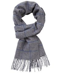 SCARF WOVEN NAVY BLUE