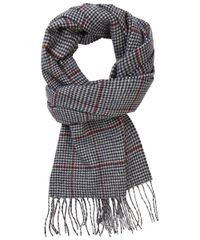 SCARF WOVEN NAVY RUST