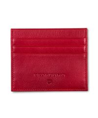 Rood lederen card wallet