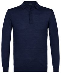 Navy long sleeve polo