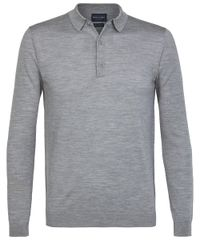 Grey long sleeve polo
