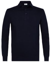 Navy one piece lange mouw polo