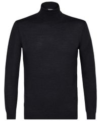 Grey wool roll-neck