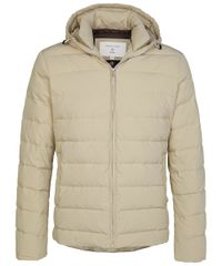 Beige goose down jacket