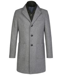 Light grey woollen coat