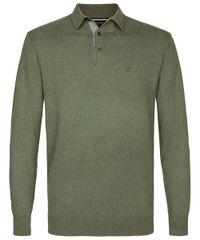 Army knitted long sleeve polo