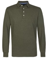 Army piqué long sleeve polo