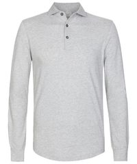 Light grey long sleeve polo