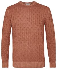 Rust cable knit