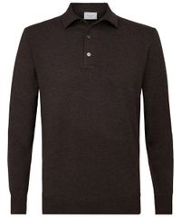 Brown long sleeve polo