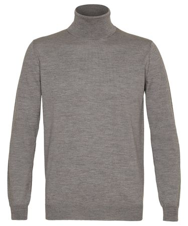 Grijs merino roll-neck