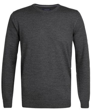 Antraciet merino crew-neck