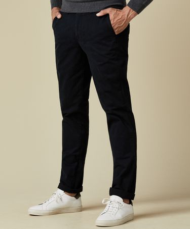 Navy garment dyed chino