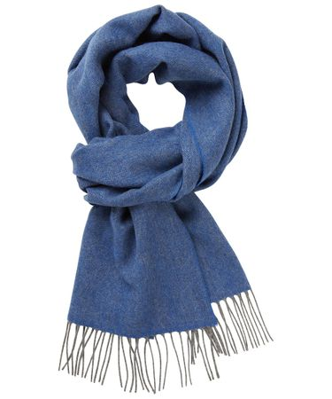 SCARF WOVEN BLUE