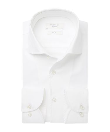 Wit one-piece collar overhemd