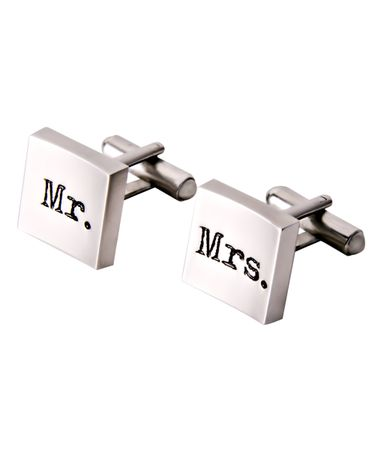 Mr & Mrs cufflinks