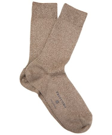 SOCKS MELANGE BROWN