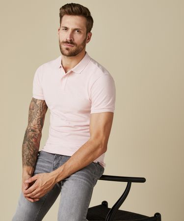 POLO SS SOFT PINK MELANGE