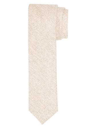 TIE WOOL WOVEN OFF WHITE