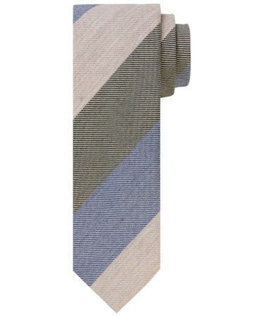 TIE WOOL COTTON WOVEN CAMEL