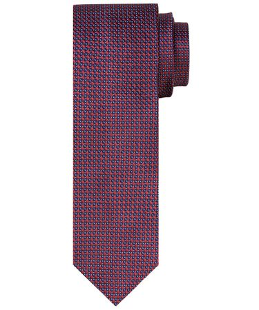 TIE SILK WOVEN RED