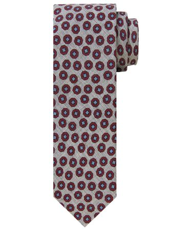TIE WOOL PRINT RED