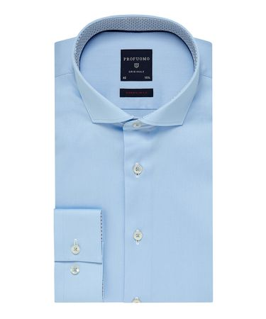 Blauw super slim fit overhemd