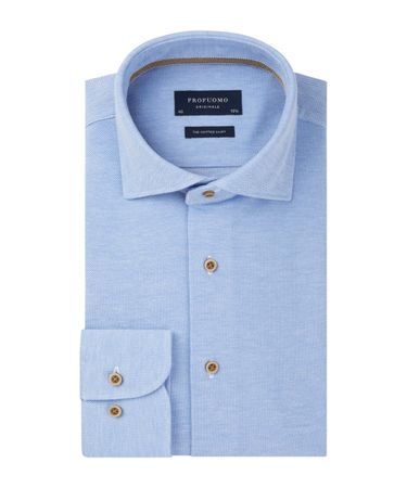 Overhemd Maat 38.Profuomo The Knitted Shirt Profuomo