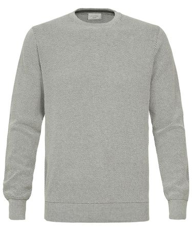 Grijze slim fit crew-neck