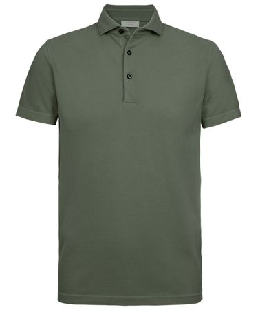 Army groen garment dyed polo
