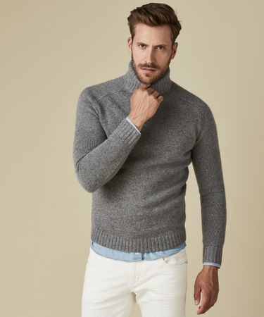 PULLOVER HEAVY ROLLNECK GREY