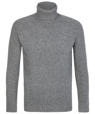 Grey heavy knitted roll-neck