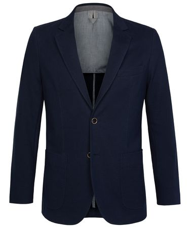 Navy knitted jacket
