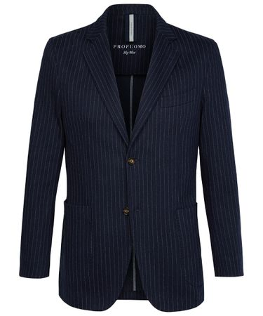 Navy striped knitted jacket