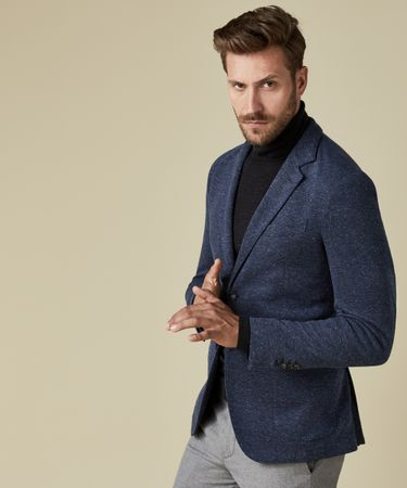 JACKET KNIT DONEGAL NAVY
