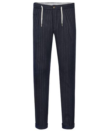 Navy sportcord trousers