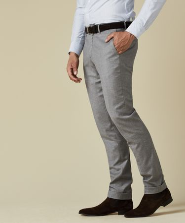 TROUSER WOOL COTTON LT GREY