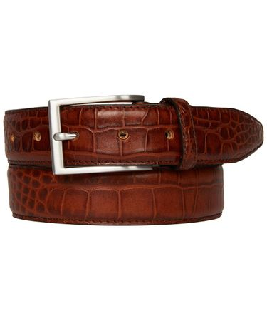 BELT CROCO COGNAC