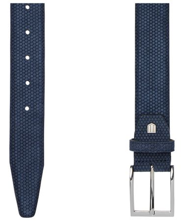 BELT SUEDE NAVY