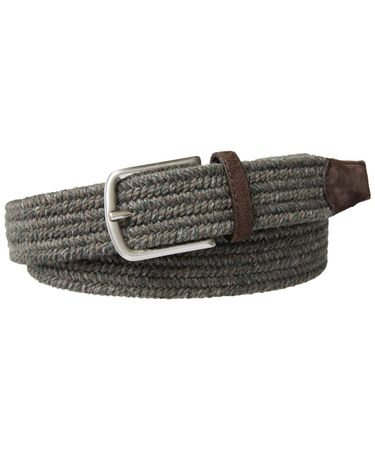 BELT BRAIDED WOOL TAUPE MEL