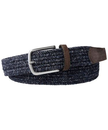 BELT BRAIDED WOOL NAVY MEL