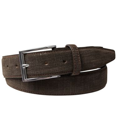 BELT EMBOSSED SUEDE BROWN